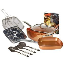 Copper Chef Cookware Set 10 Piece 9.5 Inches Deep Square Pan