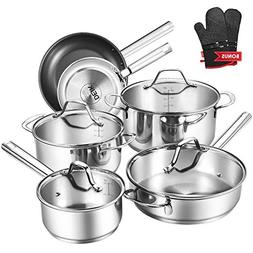 Deik Cookware Set, Kitchenware Set, MultiClad Pro Stainless