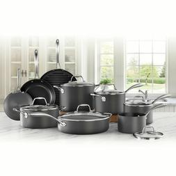 Cookware Set 15-Piece Member's Mark Features Hard-Anodized A