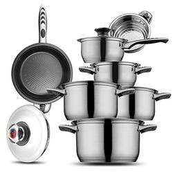 Cookware set Stainless Steel Cookware set 18/10 and 18/8 HOF