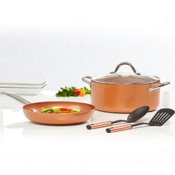Cookware Sets Jack Lalanne Copper Chef Casserole Set 5 Piece