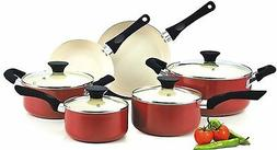 Cookware Sets On Sale Red Pots And Pans Set Nonstick Ceramic