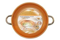 Copper Frying Pan 14-Inch Non Stick Ceramic Infused Titanium
