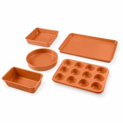 Gotham Steel 5 Piece Copper All in One Bakeware Set with Non