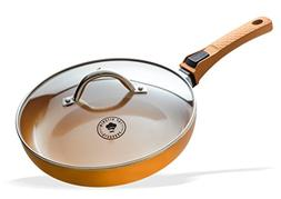 Premium 12 Inch Copper Ceramic Non Stick Frying Pan, Innovat