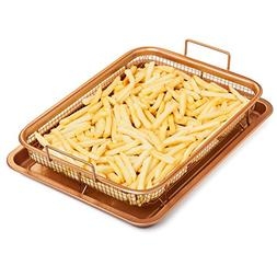 Chef's Star Copper Crisper Tray - Ceramic Coated Cookie Tr