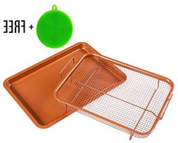 Copper Crisping Tray/Air Fryer Basket by BASICNDAILY - Chef
