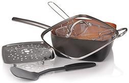 Copper Pan 5 piece Cookware Set - Non Stick Copper Chef Fryi