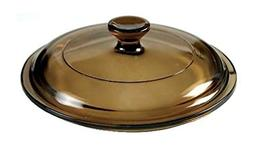 "Corning Ware/Pyrex Amber Round Glass Lid 5 1/2"" Dia P-81-C"