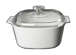 Corning Ware White Coupe Square Casserole w/ Lid