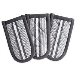 """DII Cotton Stripe Quilted Pan Handle, 6x 3"""" Set of 3, Machin"""