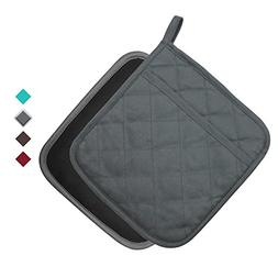 """YEKOO Cotton and Neoprene Oven Pot Holder with Pocket 8""""x8.5"""