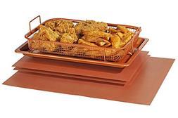 Crisper Copper Baking Sheet Air Fryer - Deluxe Multi-Purpose