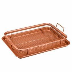 2-Piece Copper Crisper Oven Air Fryer Pan Set by Copper Chef
