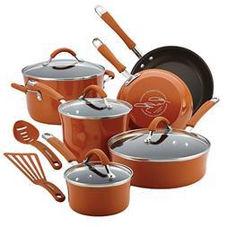 Rachael Ray - Cucina 12-piece Nonstick Cookware Set - Espres