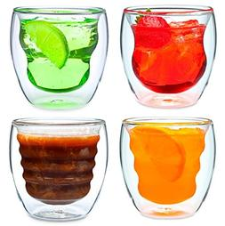 Curva Artisan Series Double Wall Beverage Glasses and Tumble