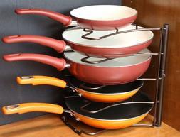 Deco Brothers Pan Organizer Rack, Bronze Pots Frying Pan
