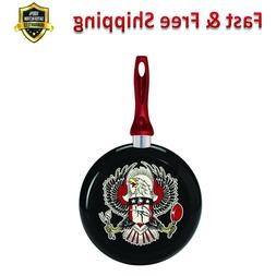 Decorated Fry Pan Eagle Design 9-1/2 Inch Dishwasher Safe Si
