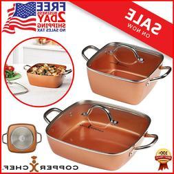 Copper Chef 4-Piece Deep Casserole Pan Set