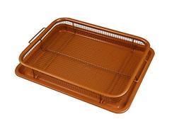 Deluxe Copper Crisper - 2-Pieces Nonstick Oven Air Fryer Pan