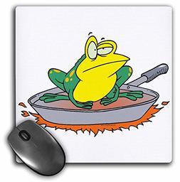 3dRose Dooni Designs Random Toons - Funny Frog in a Frying P