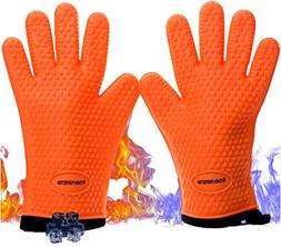 "NEW 11"" Durable Cooking Gloves Grilling Heat Resistant Water"