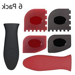 Haicheng 6 Piece Durable Grill Pan Scraper Plastic Set Tool