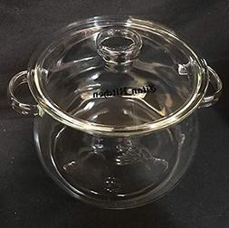Eco Friendly 3 Liter Borosilicate Glass Cooking Pot with Tem