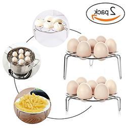 2PC 7 Egg Steamer Rack Holder For Cooking, Steamers Stock Ba