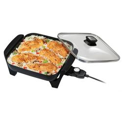 Electric Skillet Non-Stick Cooking Frying Pan Large Skillets