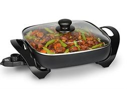 electric skillets nonstick frying pan with tempered