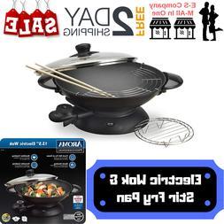 electric wok and stir fry pan w