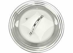 Elegant Stainless Steel Glass Universal Fits Pots Pans Fryin