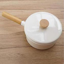 Enamel Milk Pot Mini Single Handle Baby Food Supplement Pot