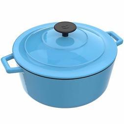 Vremi Enameled Cast Iron Dutch Oven Pot with Lid - 6 Quart C