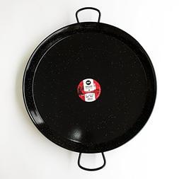 Enamelled Steel Valencian paella pan. 24Inch / 60cm / 20 Ser