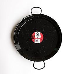 Enamelled Steel Valencian paella pan. 17Inch / 42cm / 10 Ser