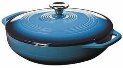 Lodge Enml Cassrol 3Qt Blue Ec3Cc33 Caribbean Blue