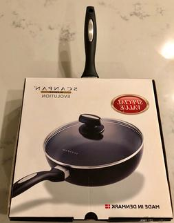 "SCANPAN EVOLUTION 9.25"" COVERED SAUTE FRYING PAN NEW"