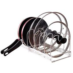 KINDEN Expandable Pots and Pans Organizer Rack for Cabinet -