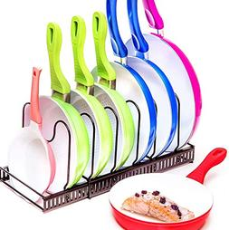 Expandable Pots and Pans Organizer - Holds 7 Pans & Lids to