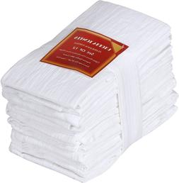 Pack of 12 Flour Sack Towels Cotton Absorbent 28 x 28 Inch U
