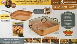 "Copper Chef 4-Piece 11"" Fry Pan Set"