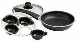 WalterDrake Frying Pan with Egg Poacher Insert, Black, One S