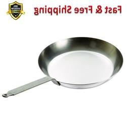Frying Pan 10 1/4 In Round Gray Steel Non Stick Strip Handle
