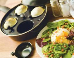 Frying Pan Boiler Poached Egg Maker Non Stick Cookware 3 Pie