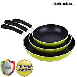 Cook N Home 8, 10, and 12-Inch Nonstick Fry Saute Pan 3-Piec