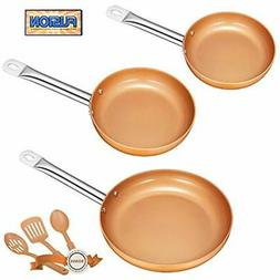DEIK Frying Pan Set, Non Stick Fry Pan set, Induction frying