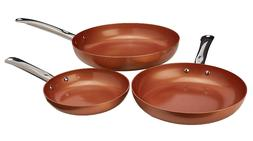 Frying Pan Set - Copper Chef Round Nonstick Pan 3 Pack 8/10/