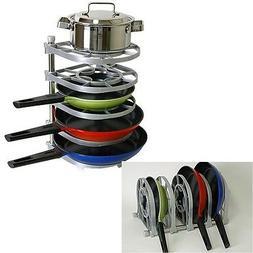Pan Pot Organizer Frying Pan Stand Holder tray Kitchen Rack